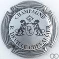 Champagne capsule 14 Argent et noir, striée