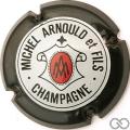 Champagne capsule 9.a Contour noir et noir