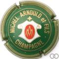 Champagne capsule 9.i Vert foncé et or, striée