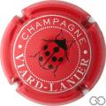 Champagne capsule 14.d Rouge, écriture argent