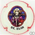 Champagne capsule 30.c St Eloi, contour rouge