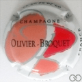 Champagne capsule 1.f O orange, B rouge