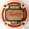 Champagne capsule 14.f PALM Cuvée de l'hermitage 2000