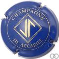 Champagne capsule A1 Bleu et or mat