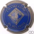 Champagne capsule 2 Bleu, striée