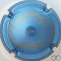 Champagne capsule 6.aa Bleu pâle métallisé et or