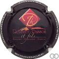 Champagne capsule 40.a Delavier Rasson, fond  noir