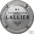 Champagne capsule 32.b Argent zébré et noir