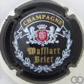Champagne capsule 1 Noir, blason rouge