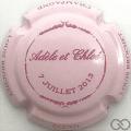 Champagne capsule H0901 Rose clair et bordeaux