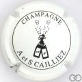 Champagne capsule 7 Blanc et noir
