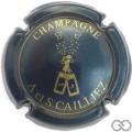 Champagne capsule 1 Bleu métallisé et or