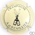 Champagne capsule 9 Crème et noir