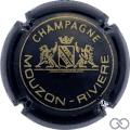 """Champagne capsule 1.a Noir et or, sans """"à VERZENAY"""""""