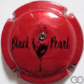 """Champagne capsule A1.a Rouge métallisé et noir, avec strass """"diamant noir"""""""