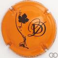 Champagne capsule 40.d Orange et noir