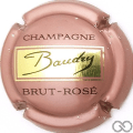 Champagne capsule 12 Brut-rose, fond rose