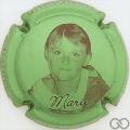 Champagne capsule 14 Vert pâle métallisé