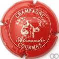 Champagne capsule 5.b Rouge et blanc