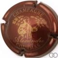 Champagne capsule 2 Bordeaux et or