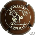Champagne capsule 5.c Marron foncé et blanc