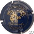 Champagne capsule 3 Bleu foncé et or
