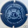 Champagne capsule 2 Bleu et blanc, striée