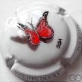 Champagne capsule  PALM, papillon rouge