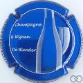 Champagne capsule 41.e Fond bleu métallisé