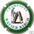 Champagne capsule 10.a Contour vert, lettres vert pâle, fond blanc
