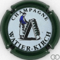 Champagne capsule 1 Contour vert foncé, fond pastel