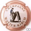Champagne capsule 9 Contour rosé, fond blanc