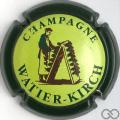 Champagne capsule 1.a Contour vert foncé, centre vert-jaune