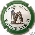 Champagne capsule 10 Contour vert, fond blanc