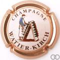 Champagne capsule 8 Contour cuivre, fond blanc