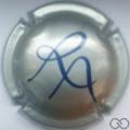 Champagne capsule 9.b Argent et bleu