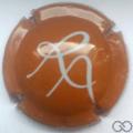 Champagne capsule 9.d Orange foncé éciture grise