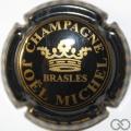 Champagne capsule 15.f Noir et or, damier sur le contour, couronne pleine