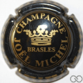 Champagne capsule 15.ba Noir et or, lettres épais