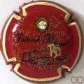 Champagne capsule 25.b PALM, contour rouge