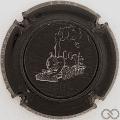 Champagne capsule A14.a Noir et crème, holographique