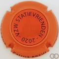 Champagne capsule A14 Orange et noir, holographique