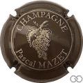 Champagne capsule 15 Marron foncé et or