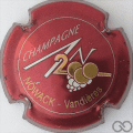 Champagne capsule 615 An 2000, n° 615 bordeaux, lettres or