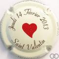Champagne capsule 54.a St Valentin 2013, gagnante