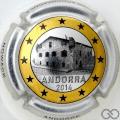 Champagne capsule 33.ca Andorre, 1 Euro, cercle or, photo