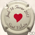 Champagne capsule 54.b St Valentin 2013, gagnante