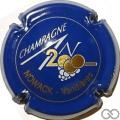 Champagne capsule 616 An 2000, n° 616, bleu, lettres or