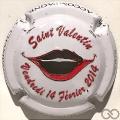 Champagne capsule 56.a Saint-Valentin 2014, perforée
