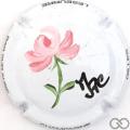 Champagne capsule 15.ac 4/6 Fleurs peinte à la main